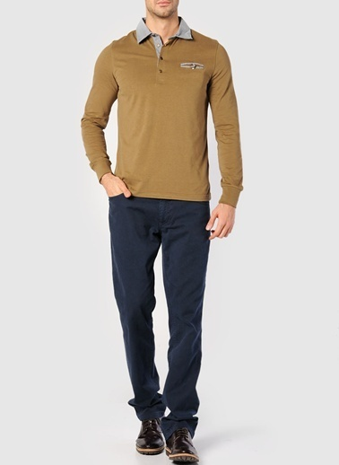 Asymmetry Sweatshirt Camel
